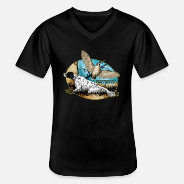 Woodcock setter woodcock 2015 - Men's V-Neck T-Shirt