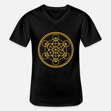 Maya merkaba - flower of life - Klassisk T-skjorte med V-hals for menn