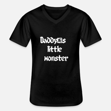 Daddys Little Monster Daddy's little monster - Men's V-Neck T-Shirt
