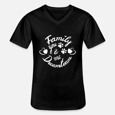 You & Me, we are Family forever - a Dreamteam - Männer-T-Shirt mit V-Ausschnitt