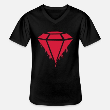 Shape diamond_blood - Men's V-Neck T-Shirt
