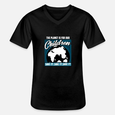 Protect the earth for our children - Men's V-Neck T-Shirt