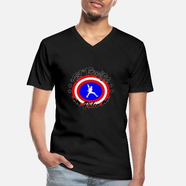 America captain america scooter 100% customizable - Men's V-Neck T-Shirt