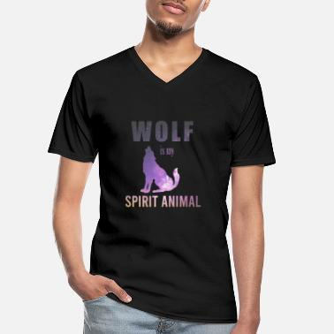 Spirit Spiritual Animals Wolf is my spirit Animal Gift - Männer-T-Shirt mit V-Ausschnitt