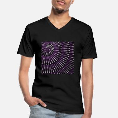 Ellenicoart Spiral with diamonds - purple/ black - Männer-T-Shirt mit V-Ausschnitt