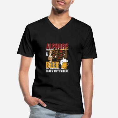 Beef Alphorn - Men's V-Neck T-Shirt