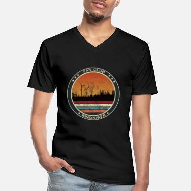 Wind Wind Power Fan Club - Hernieuwbare Energie - Klassiek mannen T-shirt met V-hals