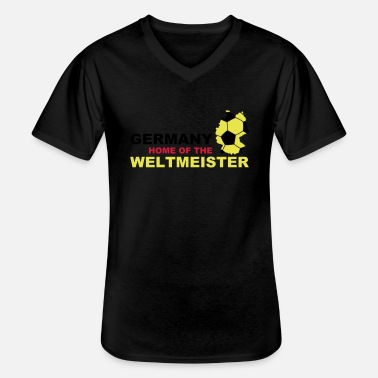 Tyskland germany home of the weltmeister - Klassisk herre T-shirt med V-udskæring