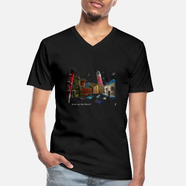 Art T-shirt Design Venice Italy - Children Fantasy - Men's V-Neck T-Shirt