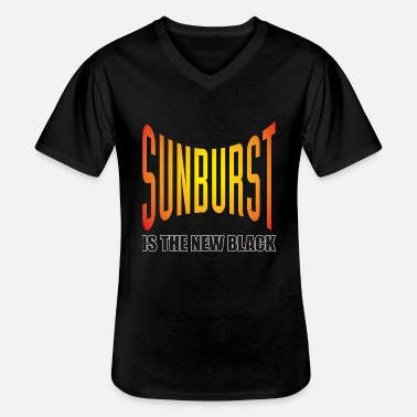 Sunburst Sunburst Is The New Black - Männer-T-Shirt mit V-Ausschnitt