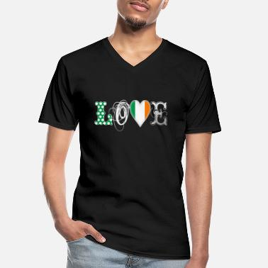 Ireland Love Eire White - Men's V-Neck T-Shirt