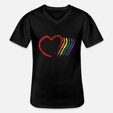 Corazon CORAZON PRIDE - Men's V-Neck T-Shirt