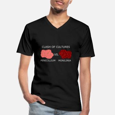 Clash Clash of cultures_white - Klassisk herre T-shirt med V-udskæring