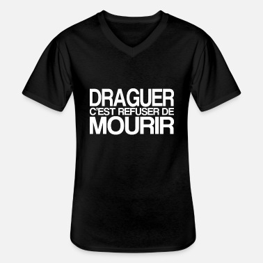 Drague DRAGUER - T-shirt col V Homme