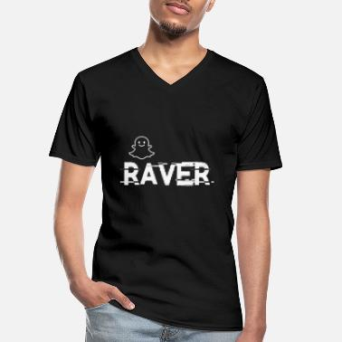 Deejay raver - Men's V-Neck T-Shirt