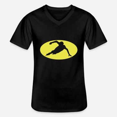 Speed speed skating speed skating logo bat9 - Men's V-Neck T-Shirt