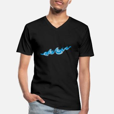 Sea Underwear Waves 2C - Men's V-Neck T-Shirt