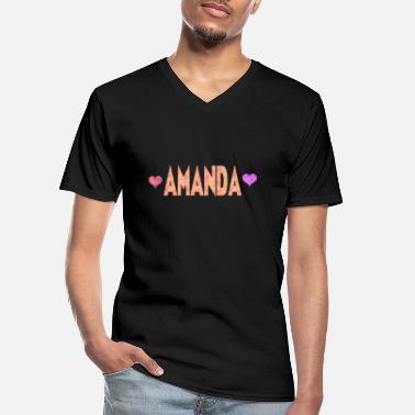 Amanda Amanda - Men's V-Neck T-Shirt