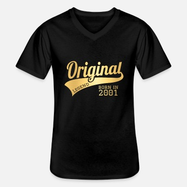 2001 Present Bday Birthday Present Gift - Men's V-Neck T-Shirt