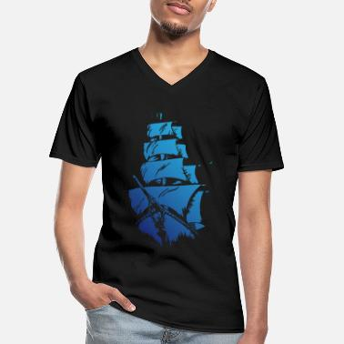 Blue ship - Men's V-Neck T-Shirt