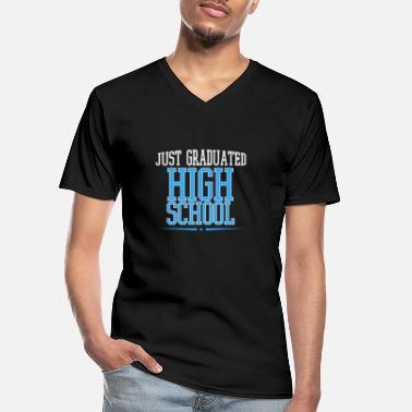 High School Graduate High school graduation high school diploma - Men's V-Neck T-Shirt