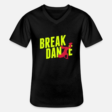 Breakdance breakdance - T-shirt col V Homme