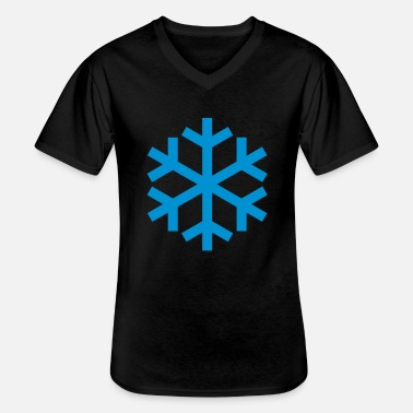 Icon Snowflake Weather Icon Icon - Klassisk T-shirt med V-ringning herr