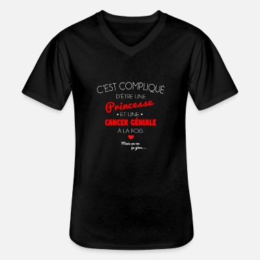 Niall Cancer ge niale - T-shirt col V Homme