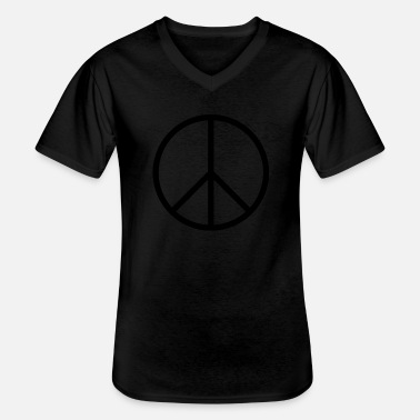 Peace Sign Peace sign - Men's V-Neck T-Shirt