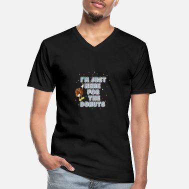I'm Just Here For The Donuts - Men's V-Neck T-Shirt