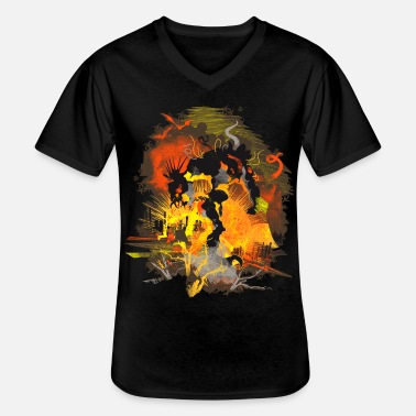 Mythical Biohazard Monster Nuclear - Men's V-Neck T-Shirt