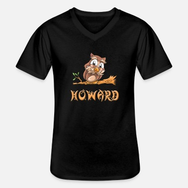 Howard Owl Howard - Klassisk T-shirt med V-ringning herr
