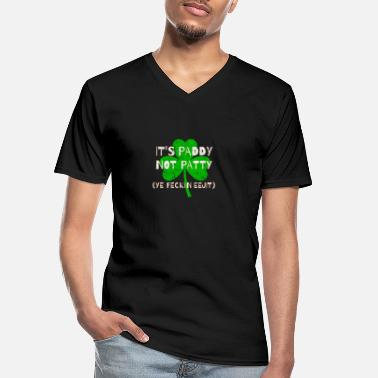 Feckin Feckin Eejit Distressed for St Paddy's Day - Men's V-Neck T-Shirt