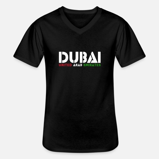 Travel T-Shirts - Dubai - Men's V-Neck T-Shirt black