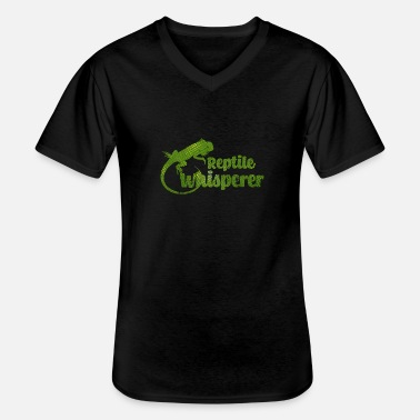 Reptile reptiles - T-shirt col V Homme