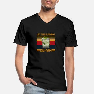 Let Let The Evening Be-Gin with Gin and Tonic Juniper - Men's V-Neck T-Shirt
