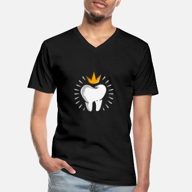 Clean What It Is Tooth crown - Men's V-Neck T-Shirt