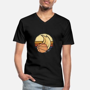 Jordan Basketball vintage basketball player Bball - Men's V-Neck T-Shirt