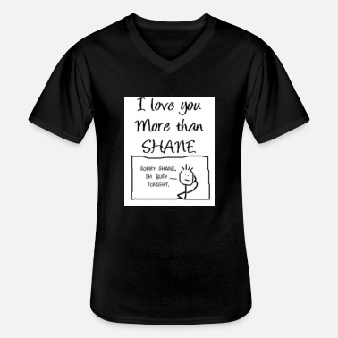 i love shane but ... - T-shirt col V Homme