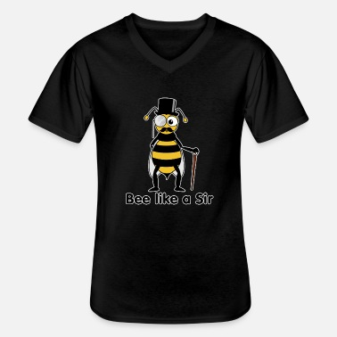 Like A Sir bee like a sir - T-shirt col V Homme
