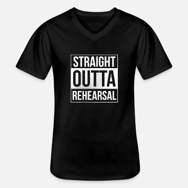Puppet Theatre Straight Outta Rehearsal Theatre - Men's V-Neck T-Shirt