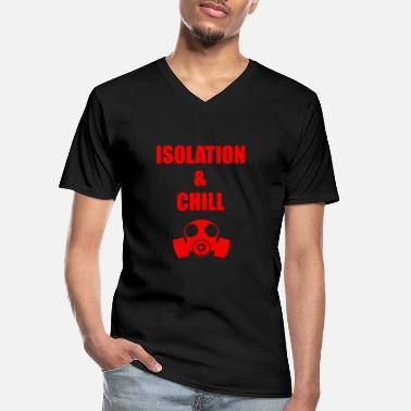 Isolated isolation and chill - Men's V-Neck T-Shirt
