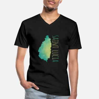 Saint Lucia Saint Lucia - Men's V-Neck T-Shirt
