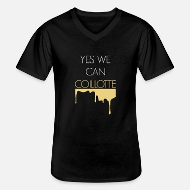 Comte Yes We Can coillote - T-shirt col V Homme