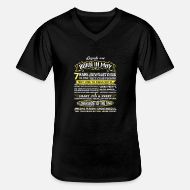 Born In May Legends Are Born In May - Men's V-Neck T-Shirt