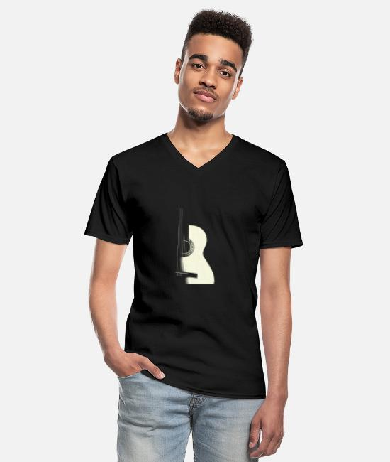 Guitar T-Shirts - Guitar - Men's V-Neck T-Shirt black