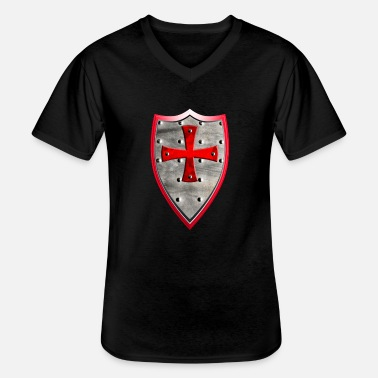 Crusader Knight crusader shield - Men's V-Neck T-Shirt
