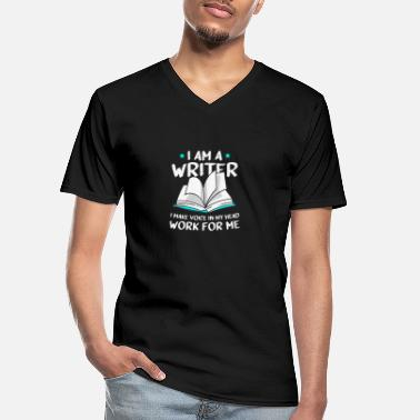 Staff I'm A Writer I Make The Voice In My Head Work - Men's V-Neck T-Shirt