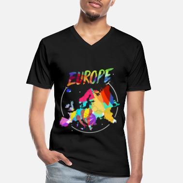 Continent Europe continent - Men's V-Neck T-Shirt