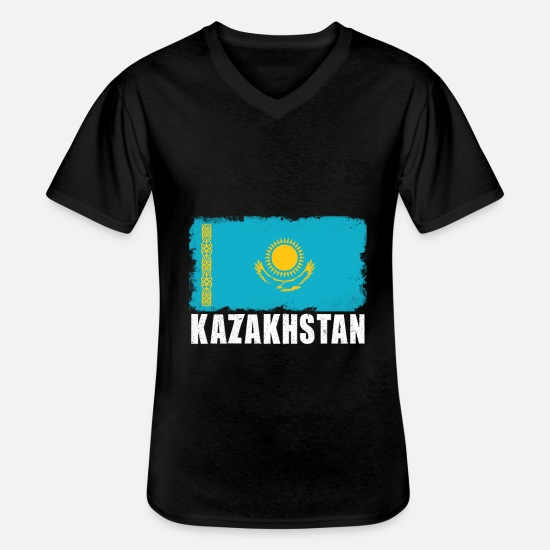 Gift Idea T-Shirts - Kazakhstan - Men's V-Neck T-Shirt black